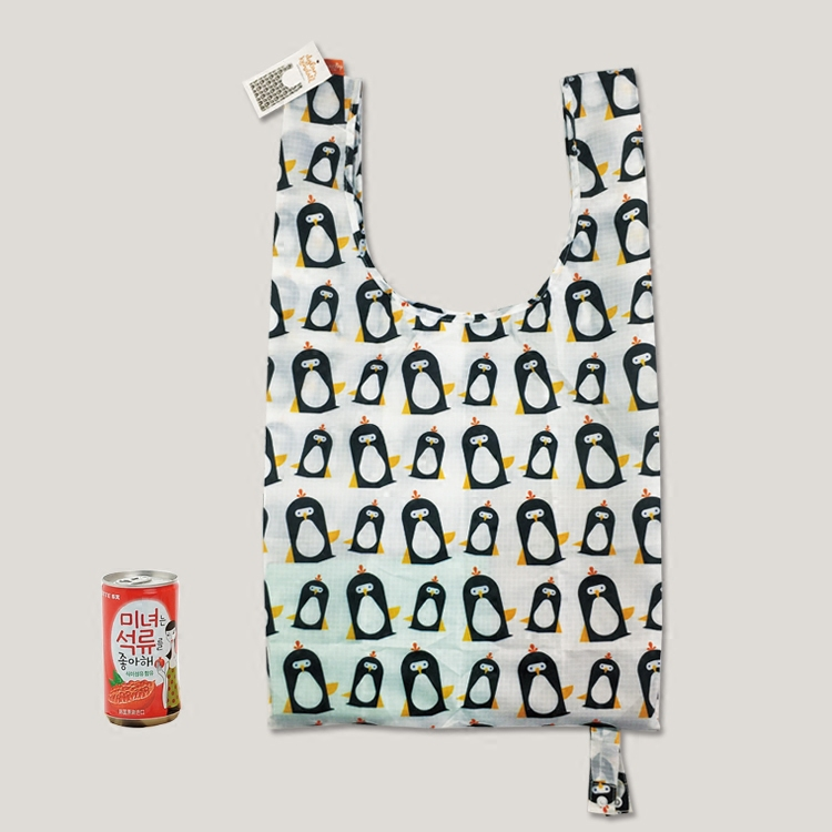 Penguine style foldable recycle bag