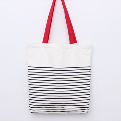 Red Simple tote bag
