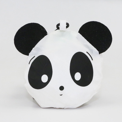 Panda style foldable recycle bag with key ring